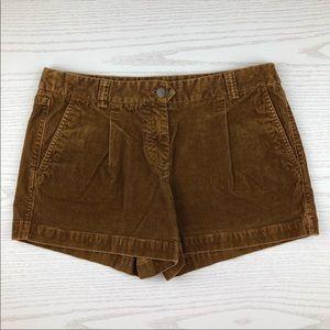 J. Crew Brown Corduroy City Fit Shorts